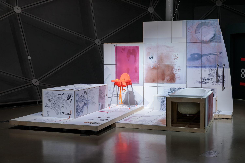 """Iris Andraschek, """"About Care, ONLY LIFE (Memories burn like a forest fire. B. Eilish)"""", 2021, Bildrecht, Wien, 2021, Foto: Kunsthaus Graz/N. Lackner"""