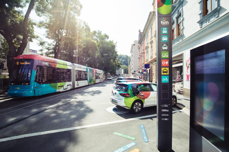 tim. täglich. intelligent. mobil. © Holding Graz / Lupi Spuma