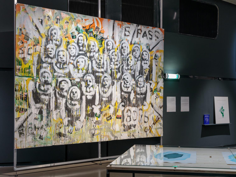 Christian Eisenberger, Ohne Titel, 2019 © Bildrecht, Wien, 2021, Ausstellungsansicht, Foto: Kunsthaus Graz/N. Lackner